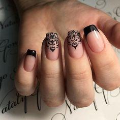 Black French nails More Nail Design, Nail Art, Nail Salon, Irvine, Newport Beach Black French Nails, French Nail Art, French Nail Designs, Best Nail Art Designs, French Tip Nails, French Hair, French Tips, Ombre French, Black Nail
