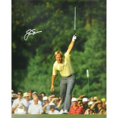 """Jack Nicklaus Fanatics Authentic Autographed 16"""" x 20"""" 1986 Masters Victory Silver Ink Photograph"""