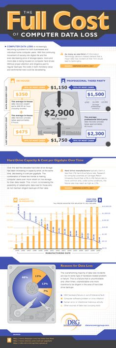 The Full Cost of Computer Data Loss | Visit our new infographic gallery at visualoop.com/