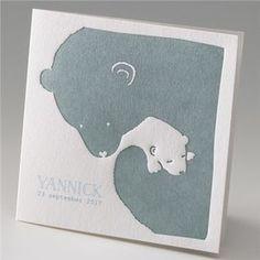 Geboortekaartje ijsbeer - Suikerdraakje - Doopsuiker en Geboortekaartjes