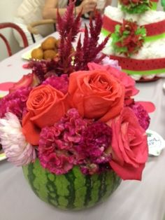 watermelon centerpiece