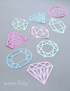 Paper-cut gems (with templates)