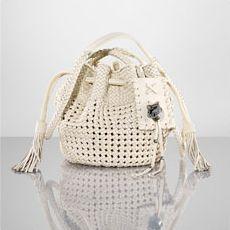 Woven Leather Cross-Body Bag