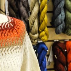 Beautiful Shibui trunk show in the store! #Shibui #trunkshow #knittersofinstagram