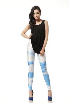 Sunzel Women'S Galaxy Space Print Leggings Pant Stretch Tights