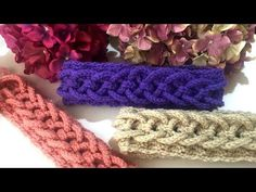 Crochet Rope with Braided Hair Band Making Loom Crochet, Crochet Belt, Crochet Bracelet, Crochet Videos, Crochet Hats, Crochet Stitches, Crochet Necklace Pattern, Crochet Headband Pattern, Crochet Designs