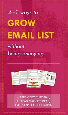 Whaaat? 5 killer strategies for growing email list + amazing (free) bonuses, including a video tutorial and free list-building consultation with Kasey Luck. One of the best email marketing resources out there.