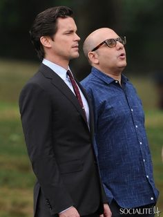 "Neal Caffrey (Matt Bomer) and Mozzie (Willie Garson) in ""White Collar"" -- partners in crime."