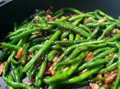 Low Carb Layla: Bacon and Onion Green Beans