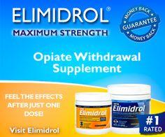 blah blah blah (Rants and Raves of a Bum): ELIMIDROL – America's #1 Opiate Withdrawal Supplement #health