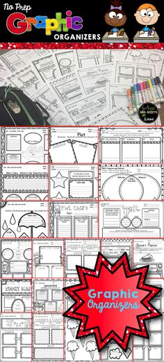 Graphic Organizers that are sure to increase reading comprehension and…