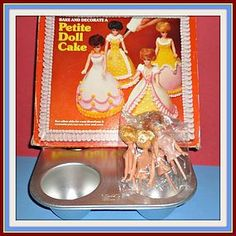 1977- Clone Dawn Dolls - Wilton Party Pan Set, Petite Doll Cakes - Doll-lighted To Meet You! #dollshopsunited