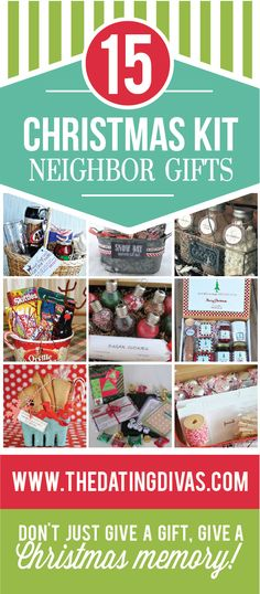 Darling, unique Christmas neighbor gifts.  Instead of giving the usual plate of cookies- give them a fun activity to do together as a family.  LOVE THIS IDEA!!!