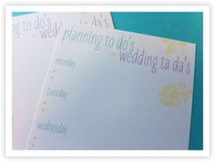 #free printable weekly #weddingplanning checklist -- keep it simple and focus on one day, one week at a time.  most importantly, have fun!!!