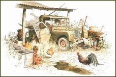 'Seen Better Days' Series 1 Land Rover Ltd Edition print
