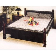 black vinyl waterbed frame