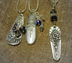 key chains    old silverware handles......with beads and charms.....nice idea