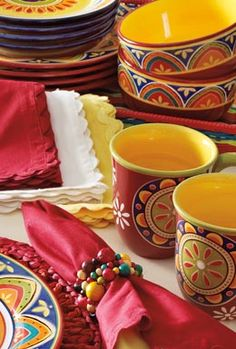 PS - must check Pier One Prior - Love the Mexican style dinnerware!Pier One has amazing things.for a fabulo. Colorful mexican home.