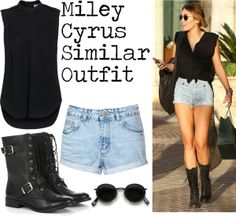 """""""Miley Cyrus - Shopping."""" by outfit-famous on Polyvore"""