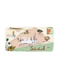 Anne Smith - Salalah map - Oman