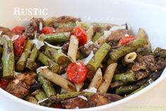 Rustic Balsamic Chicken with tomatoes and asparagus at Cooking with Crystal