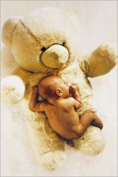 Baby pictures- with tims big brown bear?