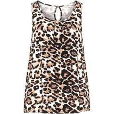 Zizzi Beige / Black Plus Size Leopard print top (1.395 RUB) ❤ liked on Polyvore featuring tops, plus size, beige, animal print tops, sleeveless jersey, plus size leopard top, boxy tops and sleeveless tops