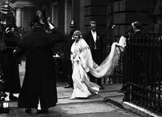 The Duchess of York leaving her house for her wedding April 1923