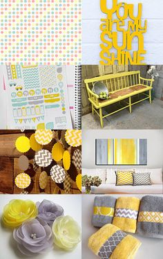 Yellow and grey  by Taigan Penny on Etsy--Pinned with TreasuryPin.com