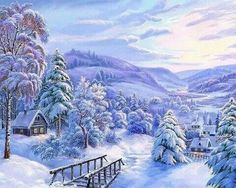 Beautiful winter wonderland