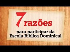 CONVITE A ESCOLA BÍBLICA DOMINICAL - YouTube