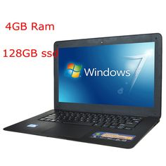 Cheap 14inch Laptop Computer Notebook J1900 Quad Core 4G RAM 128GB ssd Windows 7/8 WIFI Webcam Portable Laptops PC 3 Color US $295.01 /piece To Buy Or See Another Product Click On This Link  http://goo.gl/EuGwiH