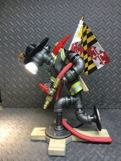 Fire fighter Desk Lamp