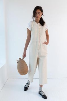 Chill Style, Long Jumpsuits, Tobias, Vintage Outfits, Winter Fashion, Normcore, Canvas, Cream, Cotton