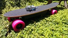 Electric Bubblegum: The tiny low-cost electric skateboard by Andrew James — Kickstarter Electric Skateboard, Electric Bicycle, Internet Trends, Scooter Bike, The Longest Journey, High Tech Gadgets, Bubble Gum, Arduino, 3d Printing