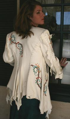 White Buckskin Jacket