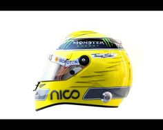 The drivers helmet of Nico Rosberg of Germany and Mercedes GP is seen during day four of Formula One winter testing at the Circuit de Catalunya on March 4, 2012 in Barcelona, Spain.