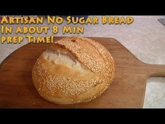 Artisan No Sugar Bread in 8 minutes prep time 8 cups bread flour 4 cups warm water 2 T dry active yeast 2 T salt for 30 minutes Best Keto Bread, Low Carb Bread, Bread Bun, Easy Bread, No Knead Bread, No Yeast Bread, Cooking Bread, Bread Baking, Bread Recipes