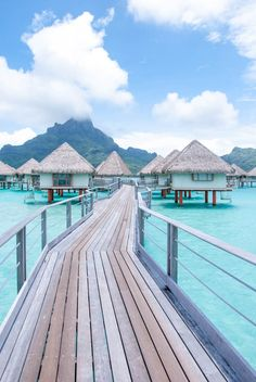 Exploring the island of Bora Bora while swaying in an overwater bungalow. The views of the island are so magical, with water the color of turquoise. destinations Bora Bora by Sea – Overwater Bungalow Vacation Places, Vacation Destinations, Vacation Trips, Dream Vacations, Vacation Travel, Maui Travel, Honeymoon Places, Honeymoon Cruise, Best Holiday Destinations