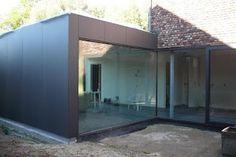 Idee van garage tot woonkeuken