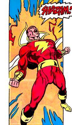 Shazam (The areal Captain Marvel! Original Captain Marvel, Captain Marvel Shazam, Dc Comics Superheroes, Dc Comics Characters, Marvel Heroes, Marvel Dc, Comic Movies, Comic Books, Dr Fate