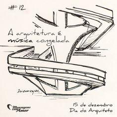 #mensagenscomamor #diadoarquiteto #OscarNiemeyer #arquitetura