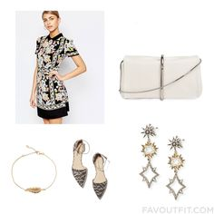 Fashion Guide With Oasis Dress 3.1 Phillip Lim Lulu Frost Earrings And Gold Bangle From September 2016 #outfit #look