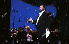 Luciano Pavarotti sings in Central Park, New York City 1993.