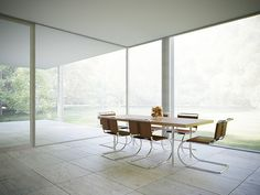 Love these Bruno chair by Mies Van der Rohe int_tableview by Peter Guthrie, via Flickr #architecture #visualization