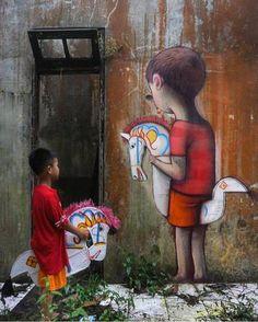 Seth GlobePainter - Merapi, Indonesia