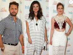 """Jason Priestley, Tiffani Thiessen et Tori Spelling se retrouvent lors de la soirée """"Raising The Bar To End Parkinson's"""" au Laurel Point à Studio City, le 27 juillet 2016."""
