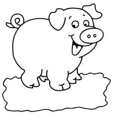 017 Farm Animal Coloring Pages, Preschool Coloring Pages, Easy Coloring Pages, Coloring Books, Farm Animal Crafts, Pig Crafts, Farm Animals, Art Drawings For Kids, Easy Drawings