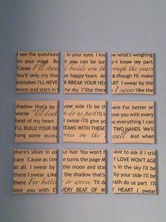 Cool idea with song lyrics.
