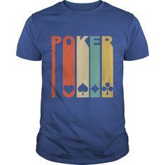 1970s retro poker tshirt
